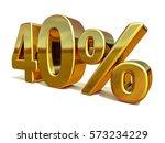 gold sale 40   gold percent off ... | Shutterstock . vector #573234229