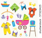 vector illustration of baby... | Shutterstock .eps vector #57323425
