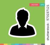 user icon   person profile... | Shutterstock .eps vector #573237121
