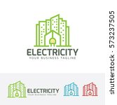 electric city  building  city ... | Shutterstock .eps vector #573237505