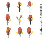 collection of tree set various | Shutterstock .eps vector #573238021