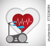 healthy lifestyle design.... | Shutterstock .eps vector #573238384