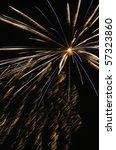 burst of multicolored fireworks ... | Shutterstock . vector #57323860