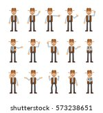 set of cowboy characters...   Shutterstock .eps vector #573238651