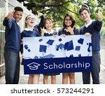 academy certification... | Shutterstock . vector #573244291
