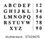 sketch alphabet. font. | Shutterstock .eps vector #57324670