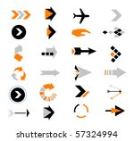 directions icons vector | Shutterstock .eps vector #57324994