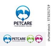 Stock vector pet care pet food pet clinic veterinary dog cat family vector logo template 573251719