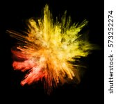 explosion of colored powder ... | Shutterstock . vector #573252274