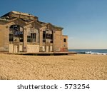This is a shot of the old Casino in Asbury Park NJ. - stock photo