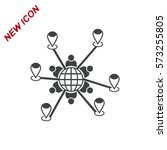 conference icon vector flat... | Shutterstock .eps vector #573255805