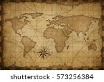 Old Nautical Vintage World Map...
