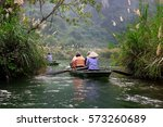 tourists traveling in small... | Shutterstock . vector #573260689