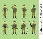 soldier character vector... | Shutterstock .eps vector #573263521