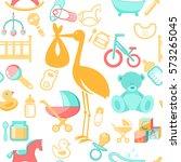 baby  newborn accessories... | Shutterstock .eps vector #573265045