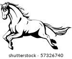 running horse | Shutterstock .eps vector #57326740