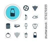 vector illustration of 12 food... | Shutterstock .eps vector #573270355
