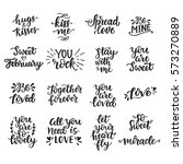 love hand drawn quotes... | Shutterstock . vector #573270889