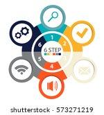 modern circular infographics of ... | Shutterstock .eps vector #573271219