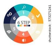 modern circular infographics of ... | Shutterstock .eps vector #573271261