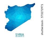 syria map   blue geometric... | Shutterstock .eps vector #573272971