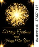 christmas greeting card and... | Shutterstock .eps vector #573274639