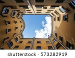 court yard well.typical yard... | Shutterstock . vector #573282919