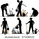gardener. all elements and... | Shutterstock .eps vector #57328522