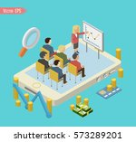infographic teamwork and... | Shutterstock .eps vector #573289201