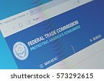 Small photo of SARANSK, RUSSIA - FEBRUARY 06, 2017: A computer screen shows details of Federal Trade Commission main page on its web site. Selective focus.