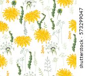 seamless pattern with yellow... | Shutterstock .eps vector #573299047