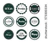 state of america label sticker... | Shutterstock . vector #573300334