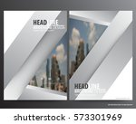 silver abstract annual report... | Shutterstock .eps vector #573301969