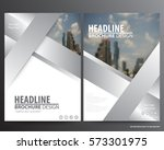 silver abstract annual report... | Shutterstock .eps vector #573301975