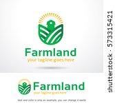 farmland logo template design... | Shutterstock .eps vector #573315421