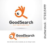 good search logo template... | Shutterstock .eps vector #573315499