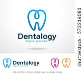 dental logo template design... | Shutterstock .eps vector #573316081