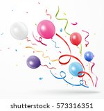 colorful party confetti with... | Shutterstock .eps vector #573316351