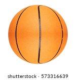 orange basketball ball isolated ... | Shutterstock . vector #573316639