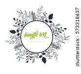 vector   vector floral frame...   Shutterstock .eps vector #573318637