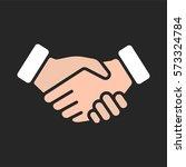 handshake friendship... | Shutterstock .eps vector #573324784