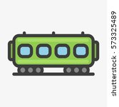 city train wagon minimal... | Shutterstock .eps vector #573325489