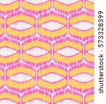 seamless geometric ikat pattern | Shutterstock .eps vector #573328399