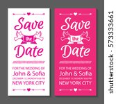 save the date wedding... | Shutterstock .eps vector #573333661