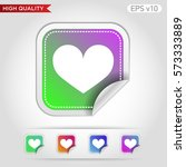 heart icon. button with heart... | Shutterstock .eps vector #573333889