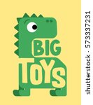 dinosaur. cute dino character.... | Shutterstock .eps vector #573337231