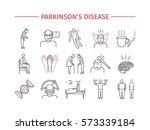 parkinson's disease. symptoms ... | Shutterstock .eps vector #573339184