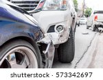 car crash from car accident on... | Shutterstock . vector #573342697