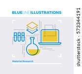 blue line illustration concept...