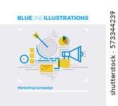 blue line illustration concept... | Shutterstock .eps vector #573344239